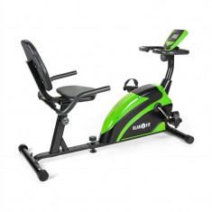 Klarfit Relax Bike 5G Recumbent Bike Recumbent Bike 100 kg max. verde negru - Bicicleta fitness Klarfit, Bicicleta orizontala, Max. 100