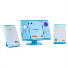 OneConcept-V 12 sistem stereo cu MP3-CD player USB, SD AUX, albastru cu etichete