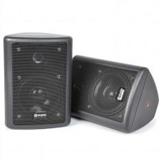 Skytec 2-way difuzoare stereo pereche 75W max. incl. material de montare negru, Boxe compacte