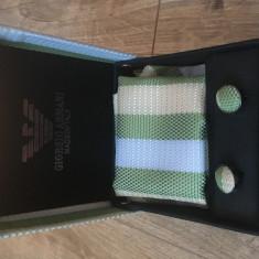 Cravata și butoni Armani - Cravata Barbati Armani, Culoare: Verde