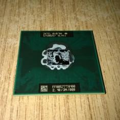 Procesor laptop Intel CORE2 DUO P8100 2, 10GHZ/3M/1066 SLAVJ IMPECABIL, Intel, Intel Core 2 Duo, 2000-2500 Mhz, Numar nuclee: 2, Socket: 479