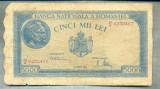 A1143 BANCNOTA-ROMANIA-5000 LEI- 20 MARTIE 1945-SERIA0232407-starea care se vede