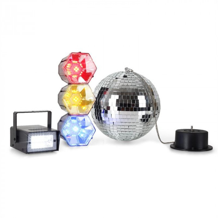 ONEconcept Mega Party Set minge disco lumina strobe foto mare