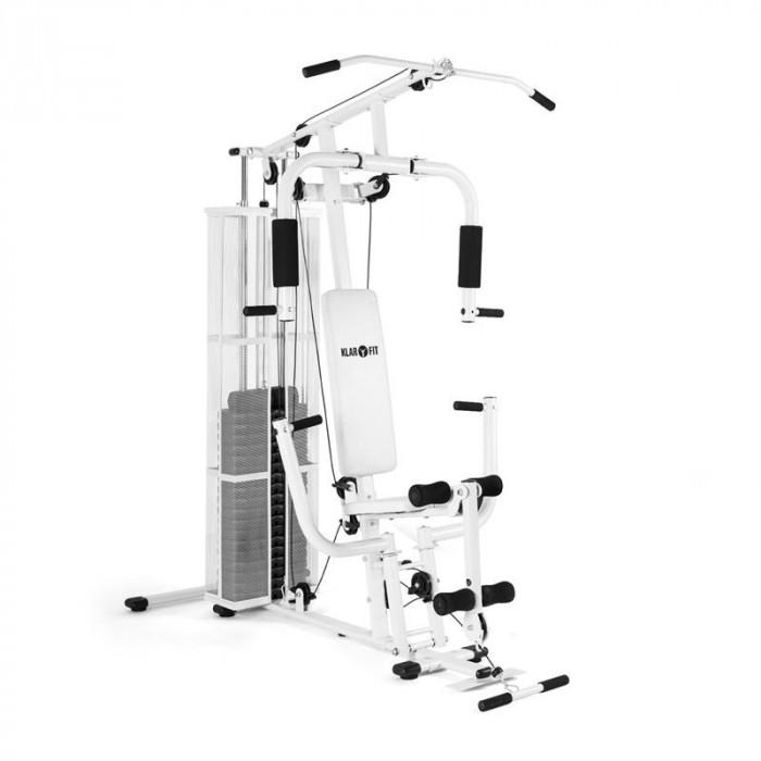 KLARFIT ULTIMATE GYM 3000, aparat de fitness multifuncțional, albă foto mare