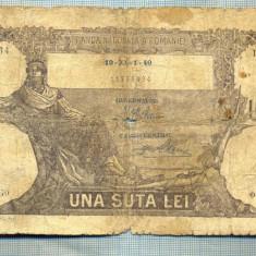 A1126 BANCNOTA-ROMANIA-100 LEI- 19-XI-1- (19)40-SERIA0470-starea care se vede