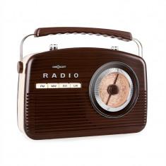 Radio portabil retro oneConcept NR-12 anii 50, Maro / bej - Aparat radio