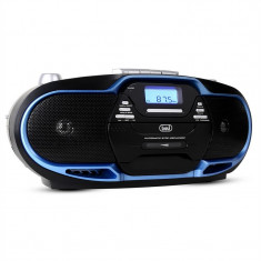 Trevi CMP - 574 Boombox CD MP3 USB casetofon AM / FM Radio albastru