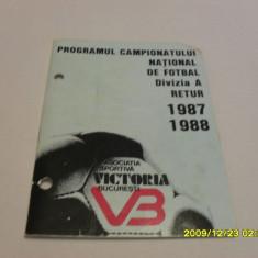 Program retur 1987-1988 Victoria Buc.