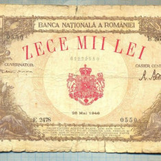 A1152 BANCNOTA-ROMANIA-10000 LEI-28 MAI 1946-SERIA2478-starea care se vede - Bancnota romaneasca