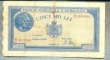 A1146 BANCNOTA-ROMANIA-5000 LEI-10OCTOMVRIE1944-SERIA0016961-starea care se vede