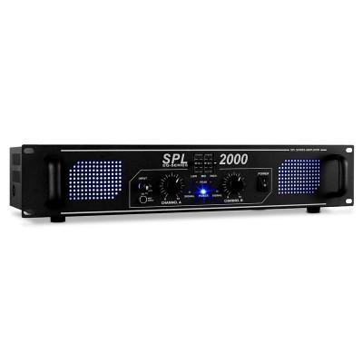 Skytec SPL 2000 EQ, 48 cm, amplificator HiFi PA cu LED foto