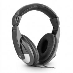 Skytec SH120 DJ Casti 105dB cablu 2m piele incl Adapter. - Casti DJ