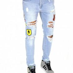 Blugi tip Zara fashion - blugi barbati conici - COLECTIE NOUA - 7412, Marime: 33, 34, Culoare: Din imagine, Slim Fit