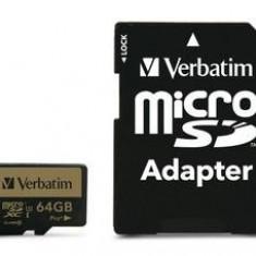 Verbatim Pro+ microSDXC U3 64GB with adapter - Card memorie