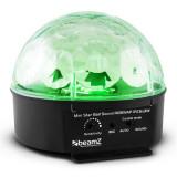 Beamz Starball cu LED-uri de iluminat RGBWAP 6 x 25W LED control de la distanță Negru