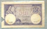 A1127 BANCNOTA-ROMANIA- 5 LEI- 22 NOIEMBRIE 1928-SERIA 3318-starea care se vede