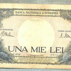 A1113 BANCNOTA-ROMANIA-1000 LEI-10 SEPTEMVRIE1941-SERIA 0781-starea care se vede