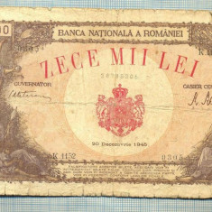A1157 BANCNOTA-ROMANIA-10000 LEI-20DECEMVRIE1945-SERIA1152-starea care se vede