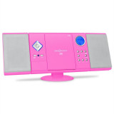 OneConcept V-12 Stereoanlage USB SD CD MP3 AUX UKW pink - CD player