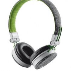 TRUST UR FYBER HEADPHONE - GREY/GREEN, Casti On Ear, Cu fir, Mufa 3, 5mm