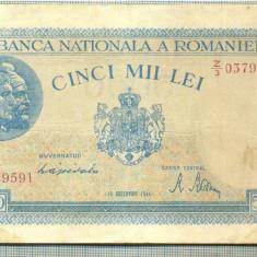 A1178BANCNOTA-ROMANIA-5000 LEI-15DECEMVRIE1944-SERIA0379591-starea care se vede - Bancnota romaneasca