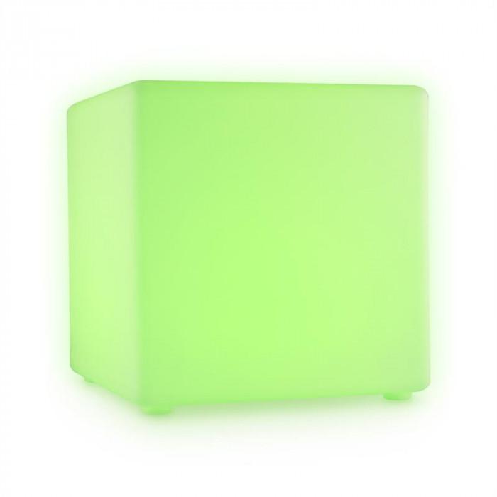 Bum Feldt Shine Cube LED Cube Seat 40x40x40cm cub lumina cu LED-uri RGB de 16 baterie control de la distanță foto mare