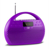 Trevi KB 308 BT Radio Digital Boombox Bluetooth violet microSD USB - Aparat radio