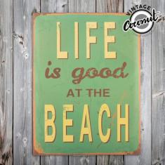 Poster Metalic Vintage Beach