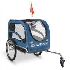 DuraMaxx King Rex Trailer Remorca 250L 40 kg țeavă de oțel, negru și albastru - Remorca bicicleta
