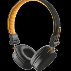 TRUST UR FYBER HEADPHONE - BLACK/ORANGE, Casti On Ear, Cu fir, Mufa 3, 5mm