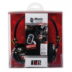 TnB ROCK MUSIC TREND HEADPHONE, Casti On Ear, Cu fir, Mufa 3, 5mm