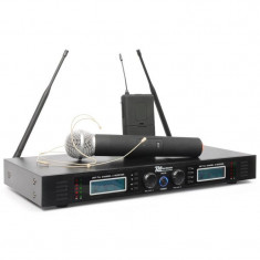Putere Dynamics PD732H 2 canale UHF Wireless Sistem microfon 2x 16 Wireless Hand - Echipament karaoke
