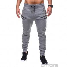 Pantaloni barbati P422 - gri -, Marime: S, M, L, XXL, Lungi, Bumbac