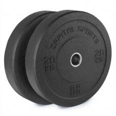 Capital sport Renit Hi placă greutate 50.4 mm miez de aluminiu, cu cauciuc 2x 20 kg