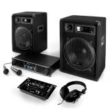 "Sistem PA ""Basstigall"" Set cutii amplificator Microfoane Auna"