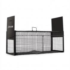 ONECONCEPT Catch & Carry L, negru, capcană pentru jderi, 30X30X75 CM, 2 mm, oțel