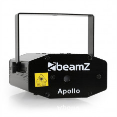 DJ Disco Mini Laser Beamz Apollo verde/ roșu, Efect continuu
