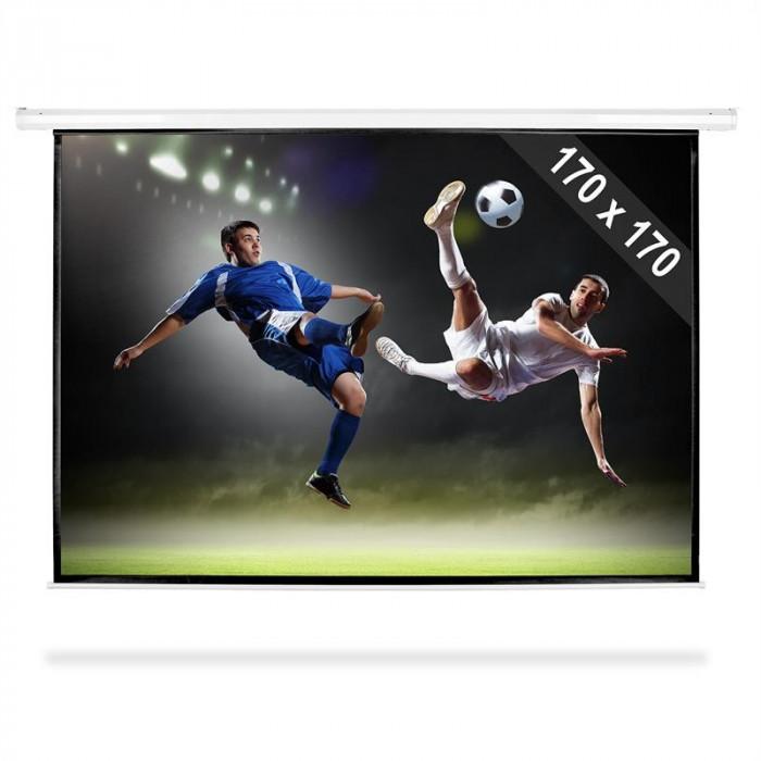 Ecran de proiecție de tip Roll-ul HDTV 170x170cm foto mare