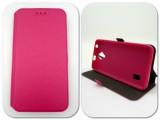 Husa FlipCover Stand Magnet Sony Xperia Z5 Premium Roz, Plastic, Cu clapeta