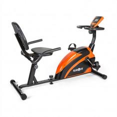 Klarfit Relax Bike 5G Recumbent Bike Recumbent Bike 100 kg max. portocaliu negru - Bicicleta fitness Klarfit, Bicicleta orizontala, Max. 100