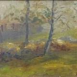 Alexandru Bassarab (1907-1941) * Ulei pe carton - Pictor roman, Peisaje, Altul