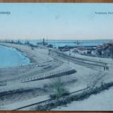 Constanta ; Vederea portului , necirculata , inceput de secol 20