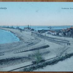 Constanta ; Vederea portului , necirculata , inceput de secol 20, Printata