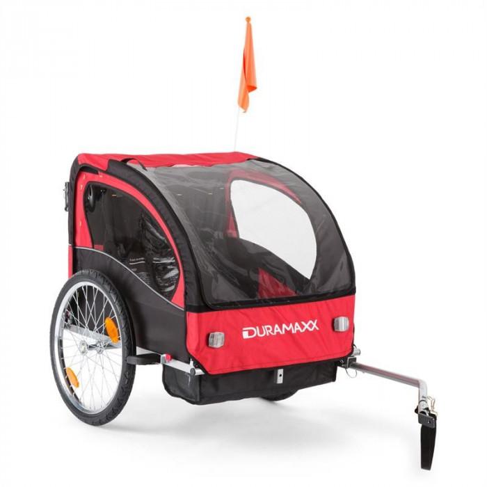 DuraMaxx Trailer Swift biciclete remorcă copii 2 locuri max. 20 kg foto mare