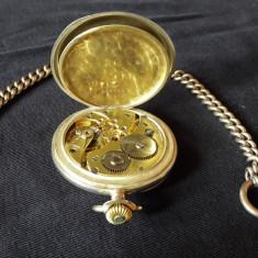 Ceas mecanic de buzunar din argint - Ceas de buzunar vechi