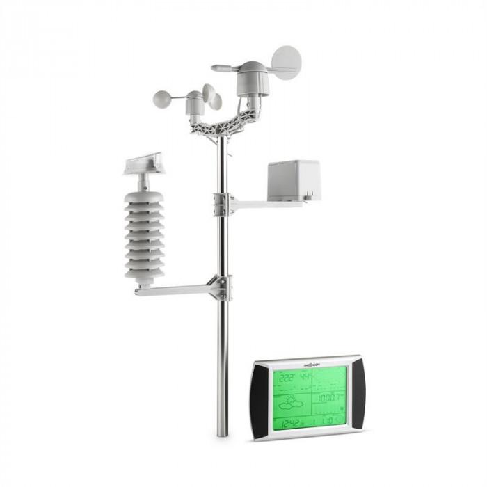 oneConcept Beaufort, stație meteo, wireless, rază de până la 100 m, ecran tactil LCD, solar foto mare
