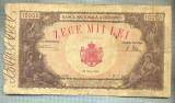 A1156 BANCNOTA-ROMANIA-10000 LEI-18 MAI 1945-SERIA0785-starea care se vede
