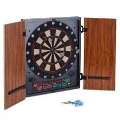 ONECONCEPT DARTMASTER 180, maro, dartboard, joc cu săgeți, vârfuri moi, ușă - Set Darts