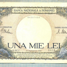 A1121 BANCNOTA-ROMANIA-1000 LEI-10 SEPTEMVRIE1941-SERIA 0171-starea care se vede