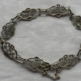 Bratara argint filigran VIENEZA 1900 FINUTA vintage DELICATA de Efect ELEGANTA